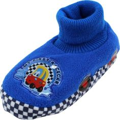 "Little Tikes ""My First Racer"" Blue Sock Top Slippers 5/6-9/10 (5/6) Little Tikes http://www.amazon.com/dp/B00ANOMFVK/ref=cm_sw_r_pi_dp_RomItb1P99495K4D"