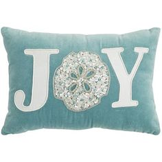 We wish you joy from coast to coast. Sequins, beads and appliques add to the merry, beachy vibe of our pillow—a Pier 1 exclusive.