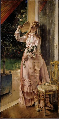 """Summer"" 1878 alfred stevens paintings clark"