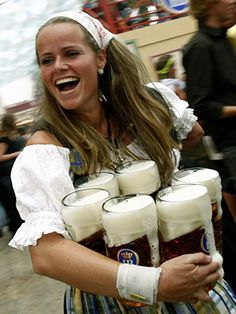 Have a beer at Oktoberfest (Munich, Germany)