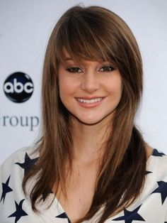 Taking this picture in when I get my hair cut so I can have these bangs!