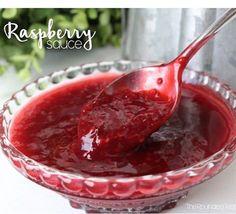 YUMMY!!!  This Raspberry Sauce will blow your mind!! Put it on cheesecake, ice cream, angel food cake, chocolate cake, pancakes, waffles, scones.....pretty much anything!! #yummy #homemade #raspberrysauce