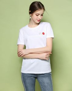 VIPme (VIPSHOP Global) - GUSTAVO ARANGO White Round Neck Summer Cartoon T-Shirts - AdoreWe.com