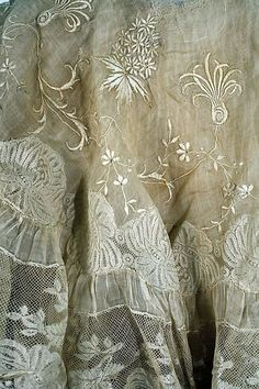 ⌖ Linen & Lace Luxuries ⌖ antique embroidered lace