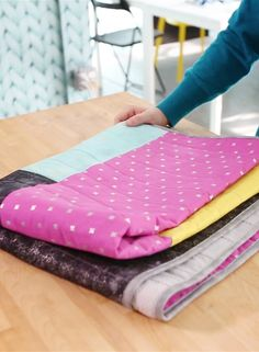 Learn To Make an Easy Beginner's Color-Block Quilt with Brooklyn Craft Company's Brett Bara!