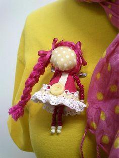 maramanufaktura / brošňa mini MARA /pink-béžová/