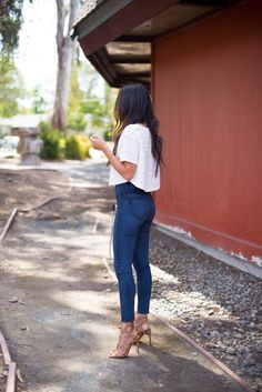These designer jeans from Marshalls paired perfectly with the shorter top!