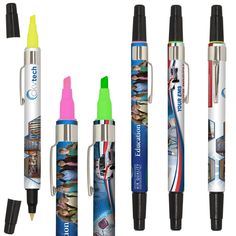 Pen and Highlighter Combo - Full Color Wrap