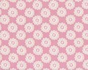 """Englischer Dekostoff Clarke & Clarke """"Nostalgic Daisy"""" mit Kreis-Blüten, rosa"""