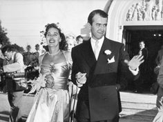 James Stewart and wife Gloria on their wedding day! She was his wife for life.