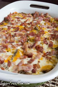 bacon cheeseburger casserole (with cauliflower!) Thnx @thesugarfreemom @sugarfreemom