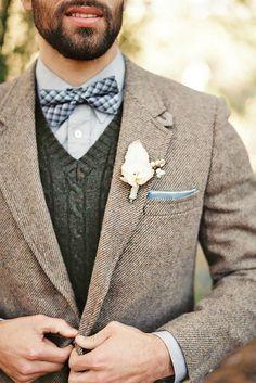 Stylish Groom Attire For Winter Weddings ❤ See more: http://www.weddingforward.com/groom-attire/ #weddings