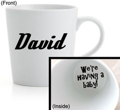 Hey, I found this really awesome Etsy listing at https://www.etsy.com/listing/182205396/surprise-custom-coffee-cup-were-having-a