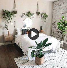 modern and minimalist bedroom design ideas in 2020 18 Room Ideas Bedroom, Diy Bedroom, Bedroom Inspo, Master Bedroom, Bedroom Furniture, Bedroom Inspiration, Bright Bedroom Ideas, Bedroom Ideas For Small Rooms, White Comforter Bedroom