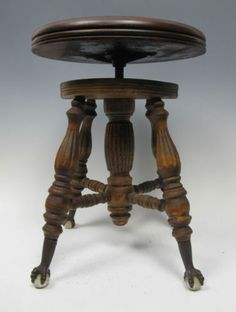 Antique Victorian Ball Amp Claw Footed Swivel Piano Stool A