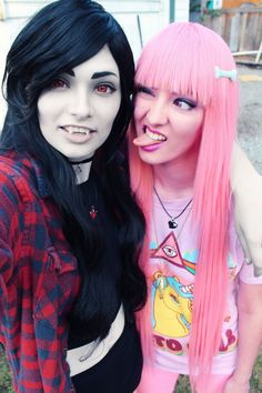 Awesome Marceline and Bubblegum Adventure Time cosplay - Imgur #camiseta…