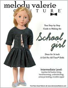 Schoolgirl Dress Pattern for AGAT Dolls PDF Download | Pixie Faire