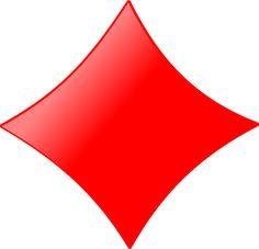 Card symbols: Diamond by nicubunu