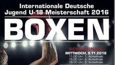 Boxen- Internationale Deutsche Meisterschaften der Jugend 2016 in Köln. Vom 09. bis 12. November 2016 werden in der Sporthalle Süd, Kölner Südstadion.