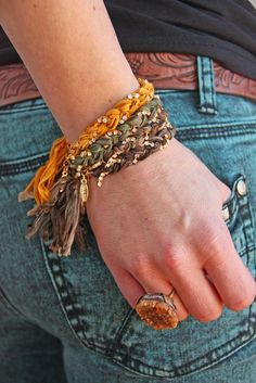 TInselTOWN CRYSTAL BRaiD BRACElet these vintage ribbon bracelets are the PerFEcT accessory! we love layering 'em up!!!