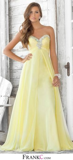 long prom dress,yellow prom dress