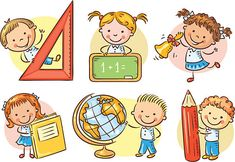 Buy Set Of Cartoon School Kids Holding Different by katya_dav on GraphicRiver. Set of cartoon school happy kids holding different school objects Kids Vector, Vector Clipart, Vector Art, Adobe Illustrator, School Clipart, Cartoon Kids, School Cartoon, Happy Kids, Classroom Decor