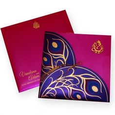 Find beautiful shimmery finish paper Regular Invitations here. Browse our website for more Indian wedding cards. Peacock Wedding Invitations, Indian Wedding Invitation Cards, Wedding Invitation Envelopes, Invitation Card Design, Invites, Hindu Wedding Cards, Wedding Cards Handmade, Wedding Guest Suits, Wedding Dresses