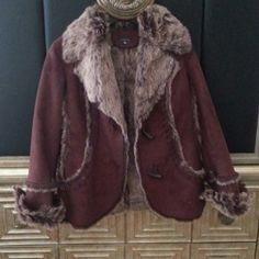 Gorgeous coat faux fur lined with detail trim Great condition no marks worn once Jackets & Coats