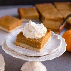 Pumpkin Pie Shortbread Bars