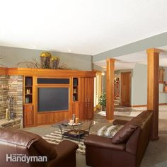 turn your unfinished basement into beautiful, functional living space. framing basement walls and ceilings is the core of any basement finishing project. learn how to insulate and frame the walls and ceilings, build soffits, frame partition walls and fram Insulating Basement Walls, Framing Basement Walls, Basement Insulation, Wet Basement, Basement Windows, Basement Bedrooms, Basement Flooring, Basement Finishing, Basement Ideas