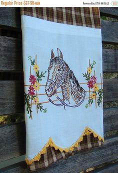 On Sale Vintage Towels Tea Towel Dish Towel by TwoGirlsLaughing