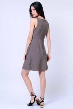 Stitched Trim Dress (Sage)