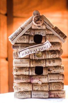 Upcycled Wine Cork Birdhouse