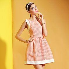 Women Newly Fitting Sleeveless High Waist Spliced Linen Dress