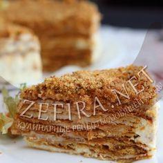 Медовый торт на сковороде со сметанным кремом-домашние рецепты с фото