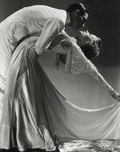Ballroom Dancers Jack Holland and June Hart, 1935, in a photo by Horst P. Horst viaobscurealt