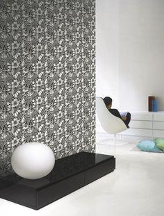 Marimekko Marimekko  Oodi Wallpaper Black/White - KIITOSlife - 2