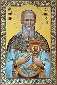 On the Fragrant Souls and Bodies of the Saints (St. John of Kronstadt) Religious Images, Religious Icons, Religious Art, St Clare's, Religion, Russian Icons, Byzantine Icons, Orthodox Christianity, Eucharist