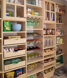pantry storage....a girl can dream!