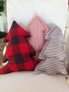Items similar to Christmas Pillow Christmas tree Pillow Christmas Tree Plush Plaid Pillow on Etsy Country Christmas, Winter Christmas, Christmas Home, Christmas Wreaths, Christmas Gifts, Diy Christmas Pillows, Cheap Christmas, Homemade Christmas Tree, Fabric Christmas Trees