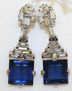 Queen Victoria's diamond and sapphire earrings.