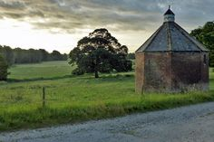 Lincolnshire, England, July 2015. Belleau village - the sixteenth-century dovecote and view.