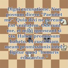 """Quod """"Honoris Educantur."""" =] Paenitet enim non paenitet. =}"""