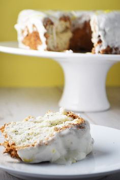 Lemon Poppy Seed Angel Food Cake - Wallflower Girl