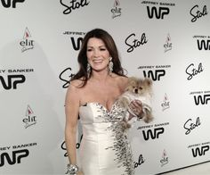 Giggy the pom and his master Lisa Vanderpump