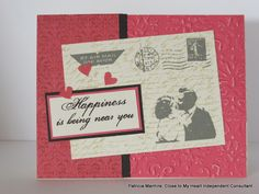 CTMH Heartstrings paper and Amour stamps