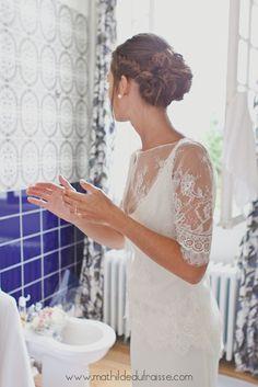 Coiffure de mariée romantique / Chignon flou - Romantic Wedding hair  Pixie -  coiffure à domicile sur Bordeaux