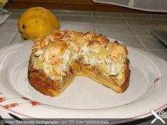 Quittenkuchen mit Mandelbaiser