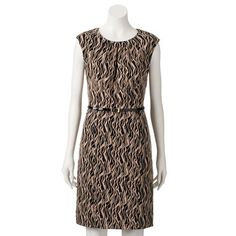 Dana Buchman Wavy Sheath Dress - Women's