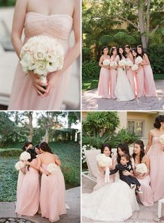 Gorgeous Pink & White!  Magnolia Rouge: Romantic Californian wedding by Elizabeth Messina
